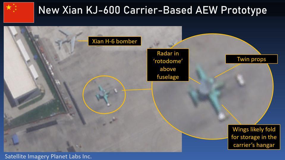 Ảnh vệ tinh hé lộ máy bay cảnh báo AEW đầu tiên của Trung Quốc