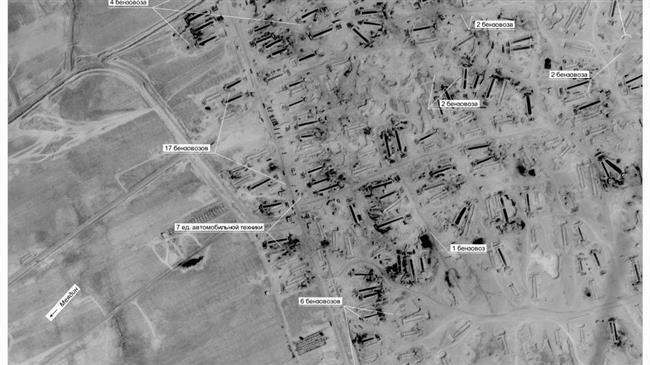 Ảnh vệ tinh của Nga chứng minh Mỹ buôn lậu dầu ở Syria