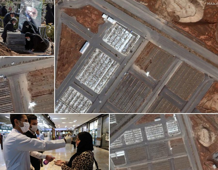 Ảnh vệ tinh chôn bệnh nhân nhiễm Covid-19 ở Iran