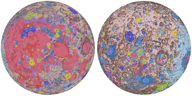 Công bố bản đồ địa chất đầu tiên về bề mặt Mặt trăng