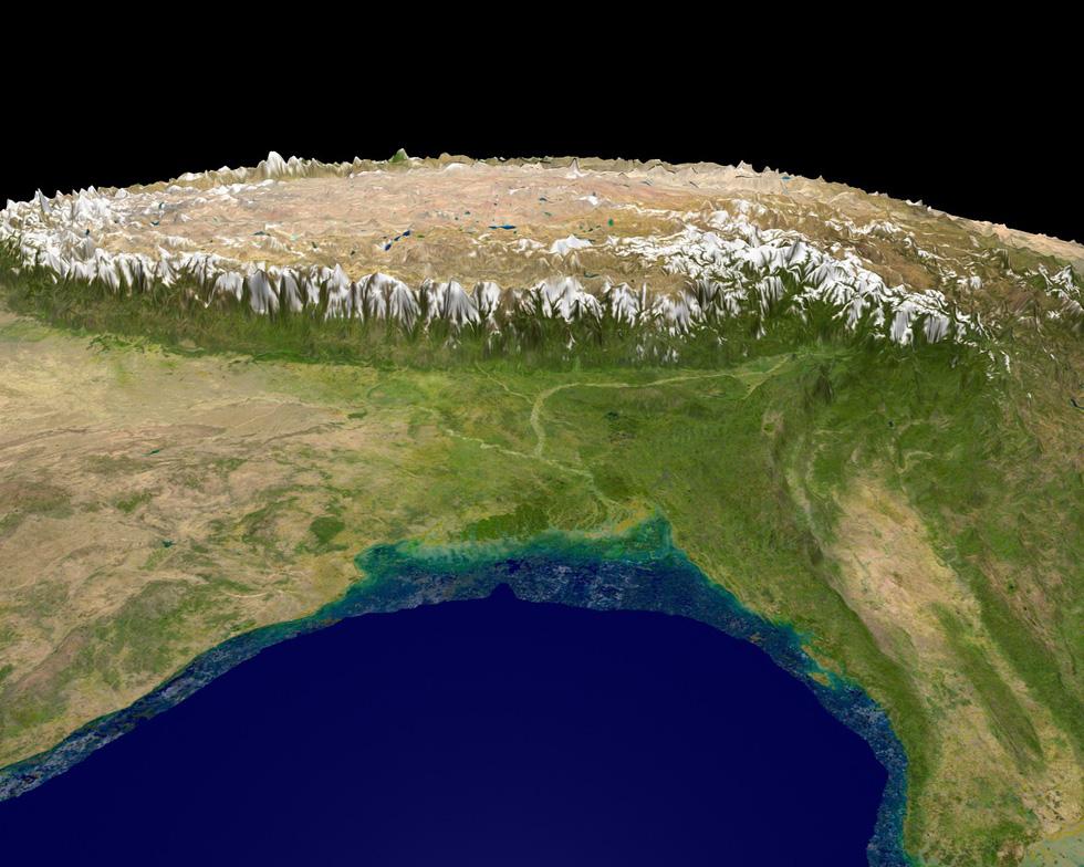 Chùm ảnh nóc nhà thế giới qua ảnh vệ tinh cực đẹp