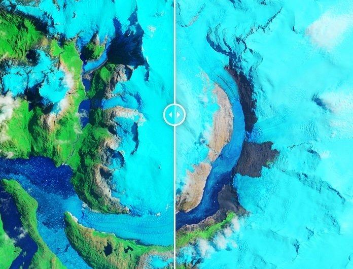 Ảnh vệ tinh quản lý băng tan nhanh ở Patagonia trong 30 năm