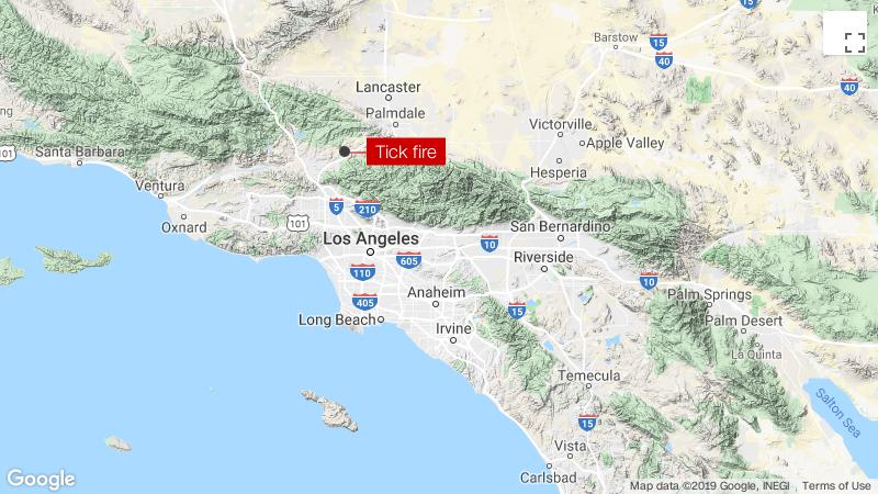 Ảnh vệ tinh giám sát cháy rừng tại California và công tác cứu hộ
